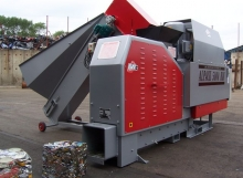Alpack 5000 UBC can sorter with a JMC can baler