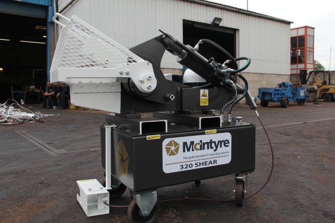 320 scrap yard alligator shear from McIntyre