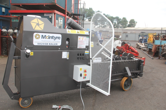 scrap metal baler from JMC McIntyre