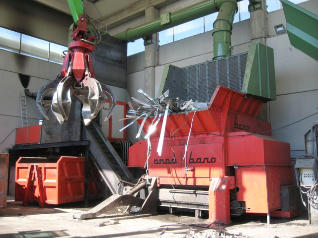 Bano shredder for aluminium