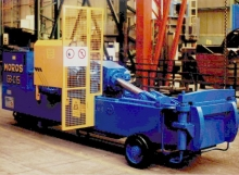 Used Moros GBC15 scrap metal baler