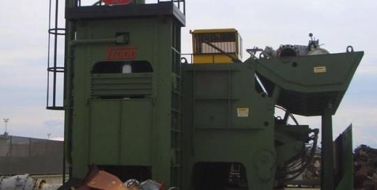 1000 tonne shear baler from Idromec