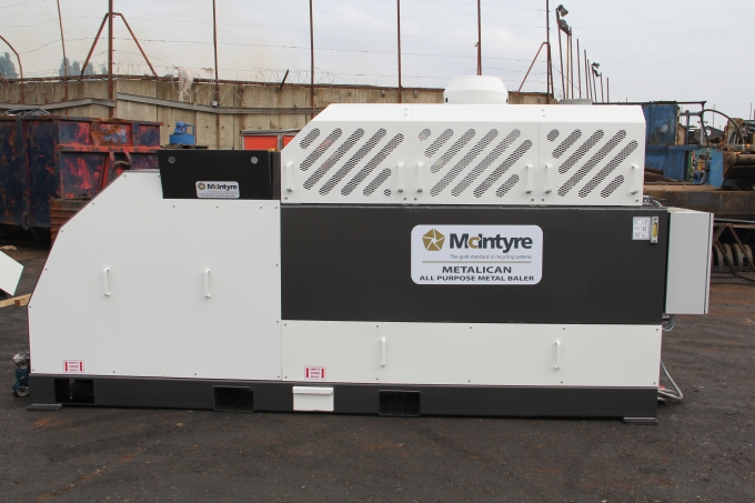 McIntyre metal and oil filter baler