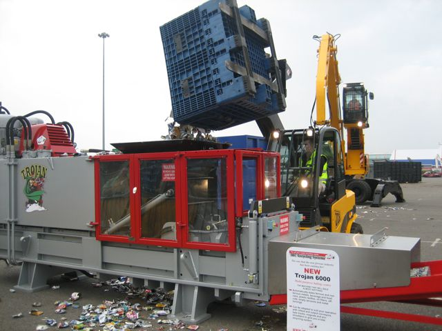 Trojan hydraulic baling press