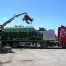Tabarelli RB series metal and car baler mounted on a trailer