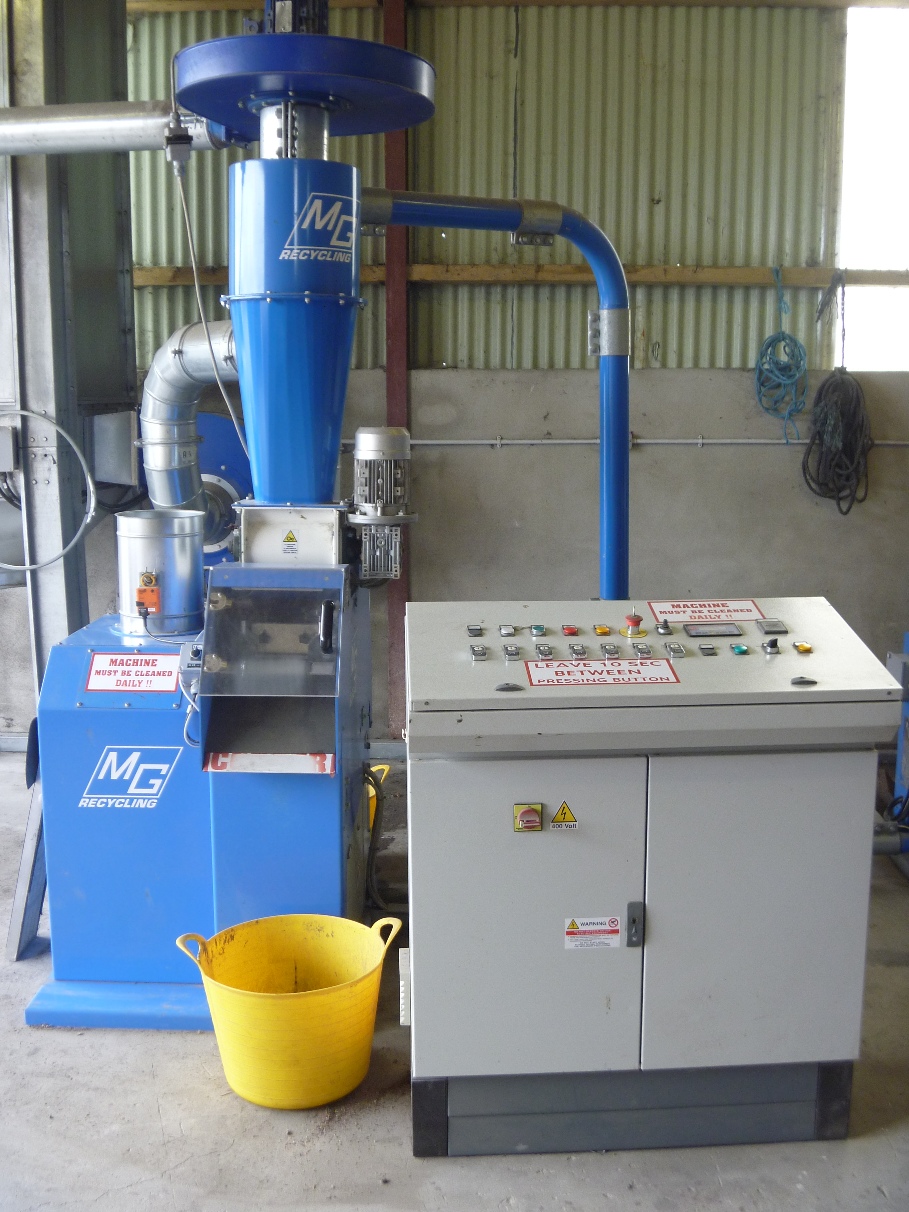 Used Matrix cable granulation system