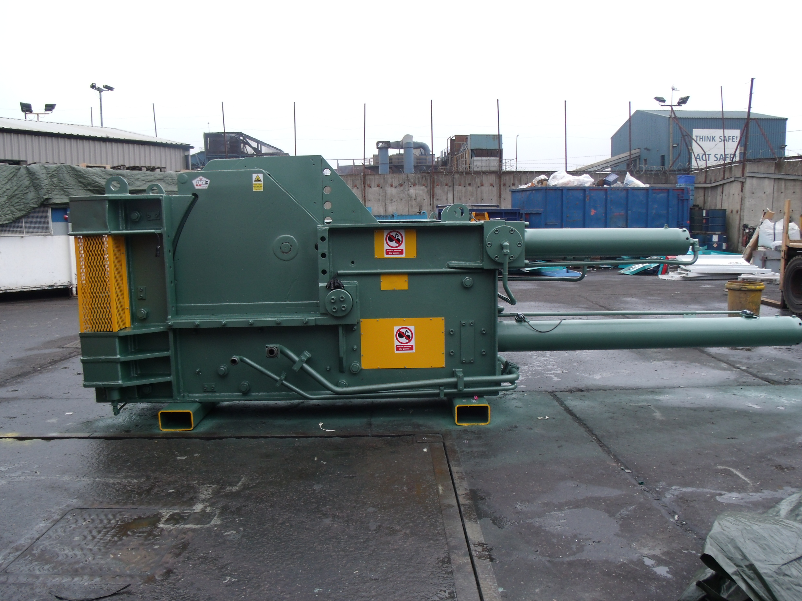 Used Lindemann Sodre 9 metal baler reconditioned by McIntyre