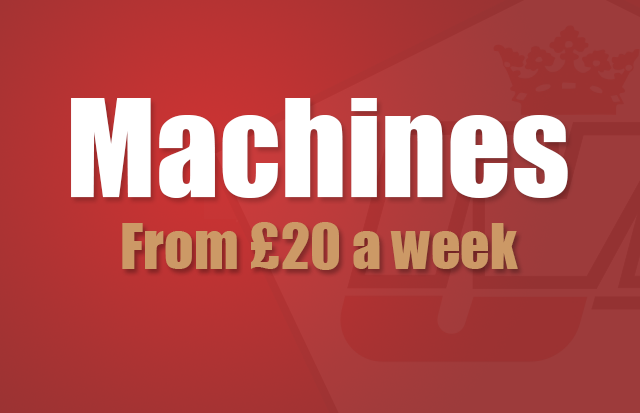 Machines from £20 a week