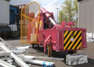 Bigfoot metal baler for non ferrous scrap metal baling