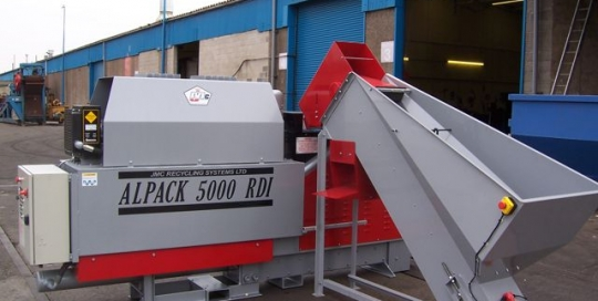 Alpack 2000 can sorter with baler