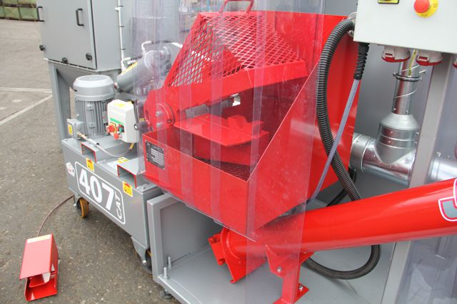 Cat shack dust extraction unit used for Cat Decanning
