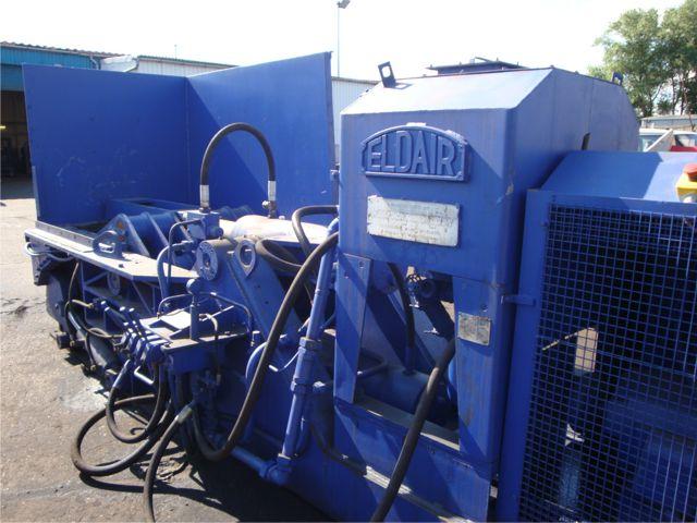 Eldair used metal baler for metal recycling