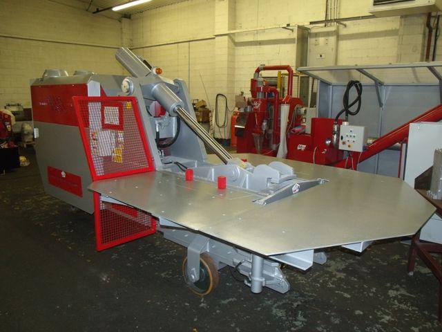 Hippo metal baler for scrap metal recycling