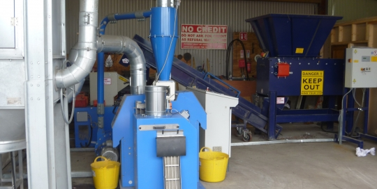 Cable granulation system